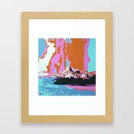 Liquid Sunshine In The Mountains Framed Art Print