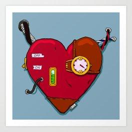Robot Heart Art Print