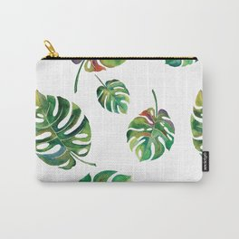 Watercolor Palm Leaves Carry-All Pouch