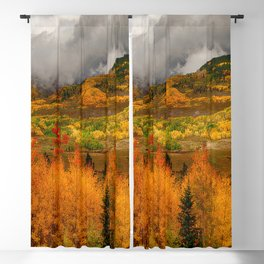 Autumn Scene at Crested Butte, Colorado Blackout Curtain