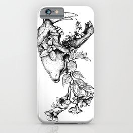Prehistoric Bloom - The Cat iPhone Case