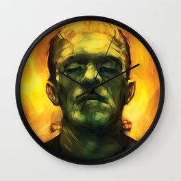 Frankensteins Monster Boris Karloff Halloween Wall Clock