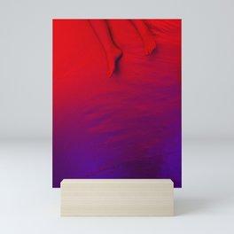 Red feet Mini Art Print