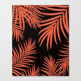 Palm Leaves Pattern Orange Vibes #1 #tropical #decor #art #society6 Canvas Print