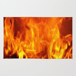 fire pattern home decor Rug