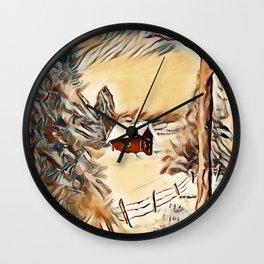 """Winter Acrylic"" Wall Clock"