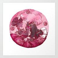 utena Art Prints featuring Utena x Anthy by Ravenno