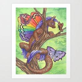 Curious Flutterby Art Print