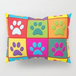 Pop Paw Prints Pillow Sham