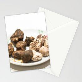 Tartufo bianco e nero | White and black mushrooms truffle. Stationery Cards