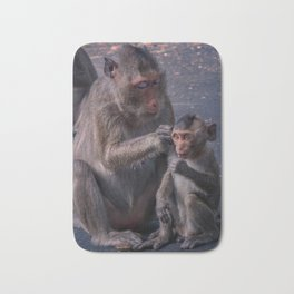 Mother and Baby Macaque Monkey Bath Mat