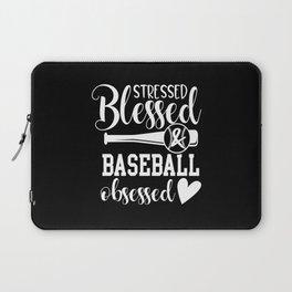 Baseball Baseball Bat Baseball Player Laptop Sleeve