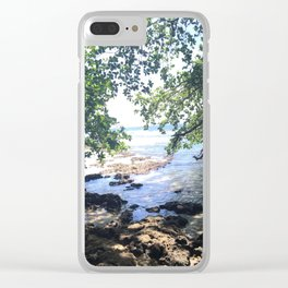 Jungle Beach in Puerto Viejo Clear iPhone Case