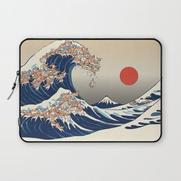 The Great Wave of Chihuahua Laptop Sleeve