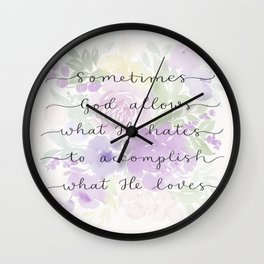 Joni Eareckson Tada quote Wall Clock