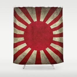 The imperial Japanese Army Ensign Flag Shower Curtain