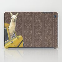 window iPad Cases featuring Taxi Llama by Jason Ratliff