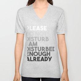 Please Do Not Disturb Unisex V-Neck