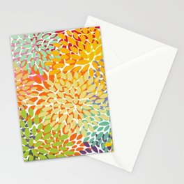 Bright Colorful Summer Florals Stationery Cards