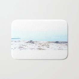 Snow on the beach Bath Mat