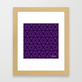 Kagome Greek Fret ... Purple Framed Art Print