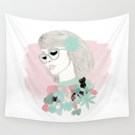 Floral Girl Wall Tapestry