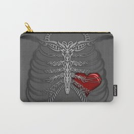 Beautifully Caged Heart Carry-All Pouch