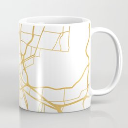 NASHVILLE TENNESSEE CITY STREET MAP ART Coffee Mug