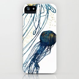 Metallic Jellyfish II iPhone Case