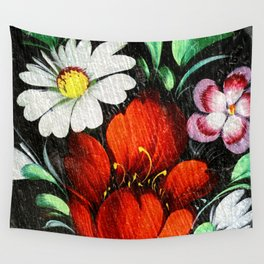 Vintage Flowers 4 Wall Tapestry