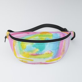 Dream on no.0 Colorful Abstract Painting Pink Modern Art Colorful Brush Art Fanny Pack