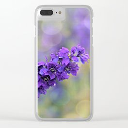 Delphinium Clear iPhone Case