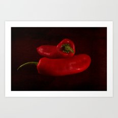 Red Hot Chillies Art Print