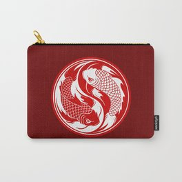 Red and White Yin Yang Koi Fish Carry-All Pouch