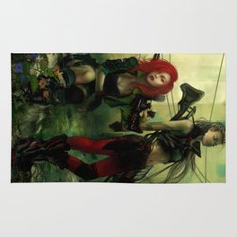 Hot pepper - Sci-fi soldier girls with weapons Rug