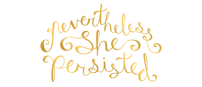 Nevertheless, She Persisted - Faux Gold Foil Coffee Mug