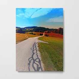 The legend of the tarmac worms goes on Metal Print