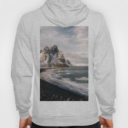 Stokksnes Icelandic Mountain Beach Sunset - Landscape Photography Hoody