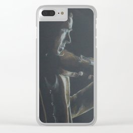 Victorian Holmes & Violin Clear iPhone Case