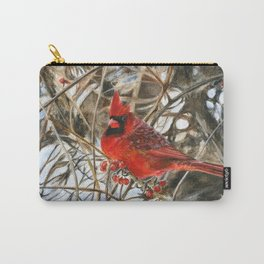 Winter Cardinal by Teresa Thompson Carry-All Pouch