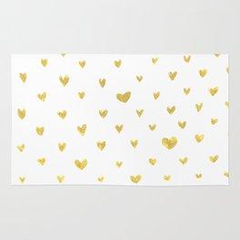 Golden Hearts Rug