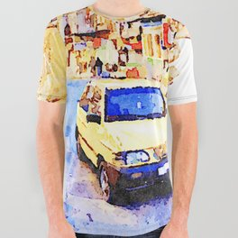 Aleppo: Taxi through the streets of Aleppo All Over Graphic Tee