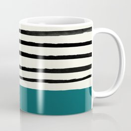 Dark Turquoise & Stripes Coffee Mug