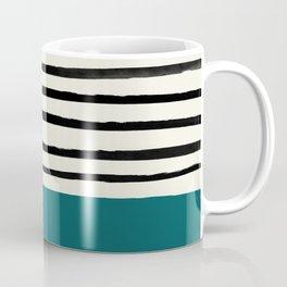 Dark Turquoise & Stripes Coffee Mug