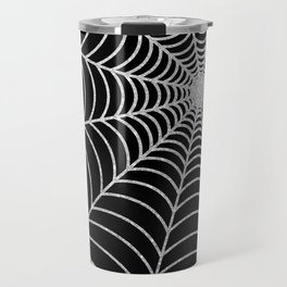 Spiderweb | Silver Glitter Travel Mug