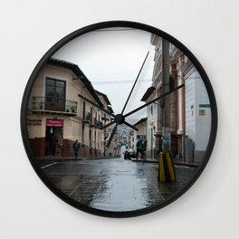 Rain in Quito Wall Clock