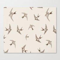 birdy Canvas Prints featuring birdy by LA creation