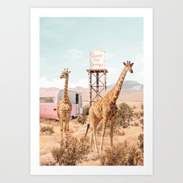 Desert Hot Springs Art Print