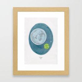 Haruki Murakami's 1Q84 Watercolor Illustration Framed Art Print