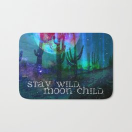 Stay Wild Desert Aurora Bath Mat